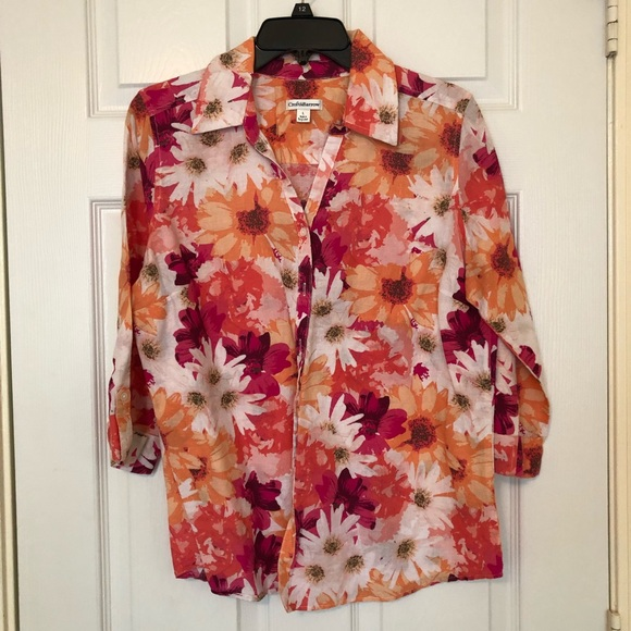 croft & barrow Tops - Spring Floral Button Down